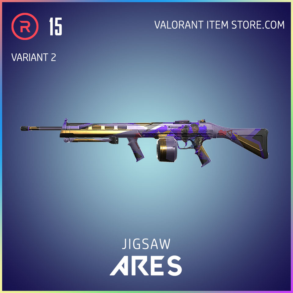 Jigsaw Ares Valorant Battlepass Tier 5 Reflection act 1 variant 2