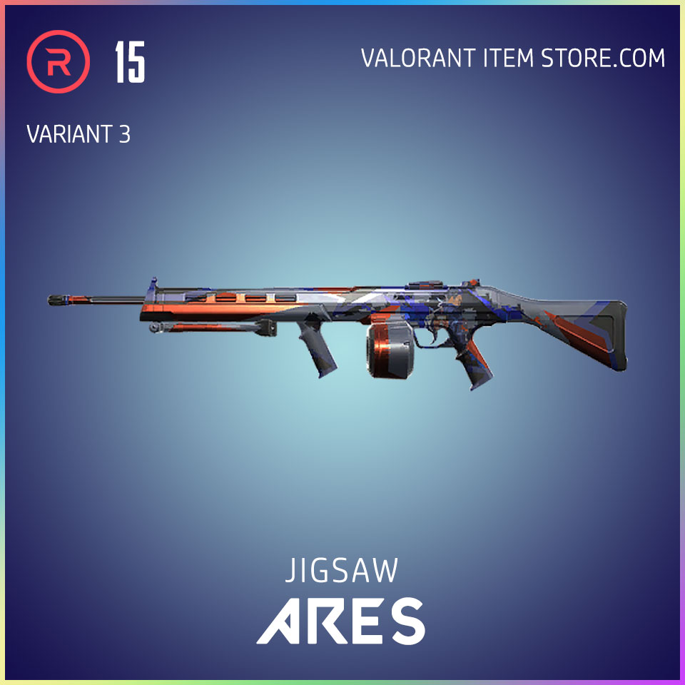 Jigsaw Ares Valorant Battlepass Tier 5 Reflection act 1 variant 3