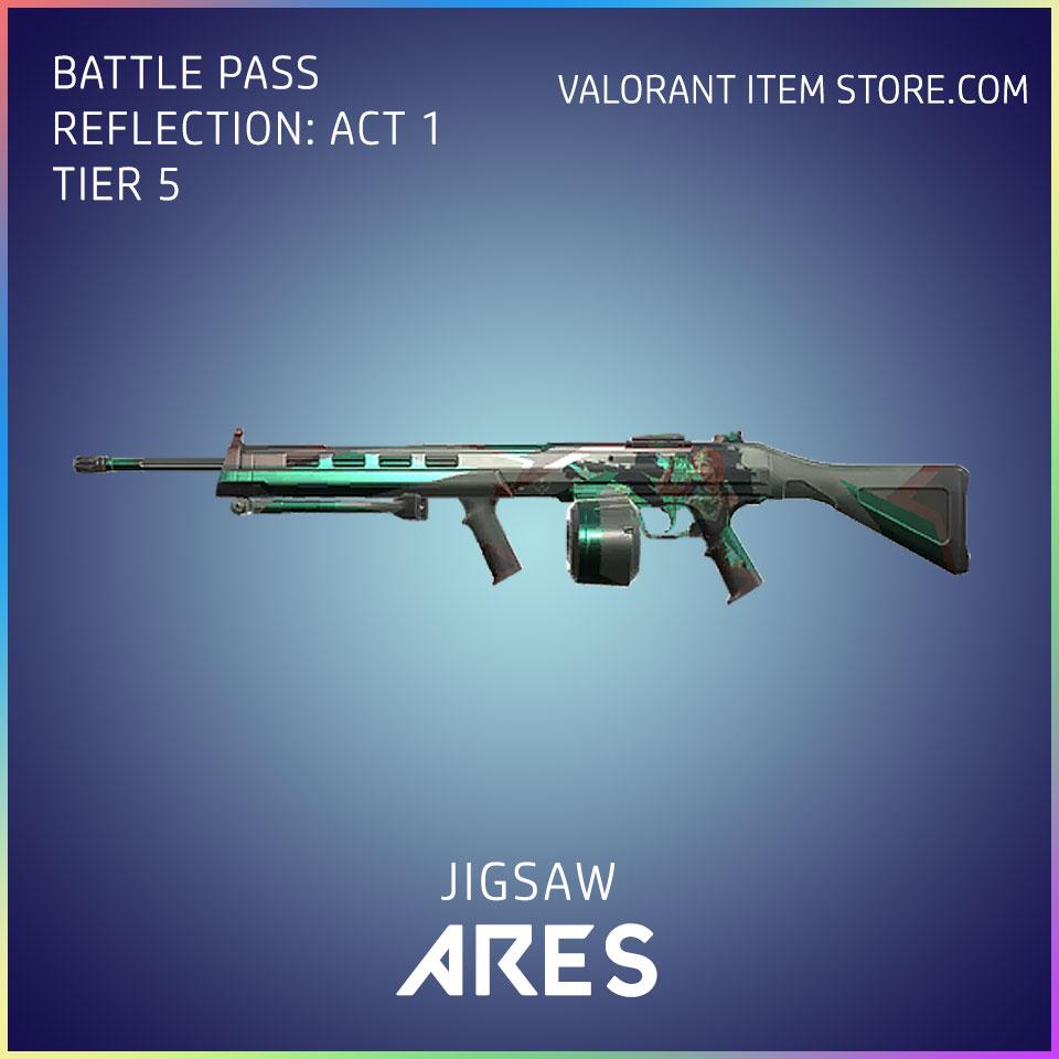 Jigsaw Ares Valorant Battlepass Tier 5 Reflection act 1