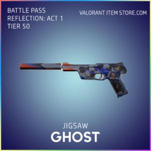 Jigsaw Ghost Valorant Battlepass Tier 50 Reflection act 1