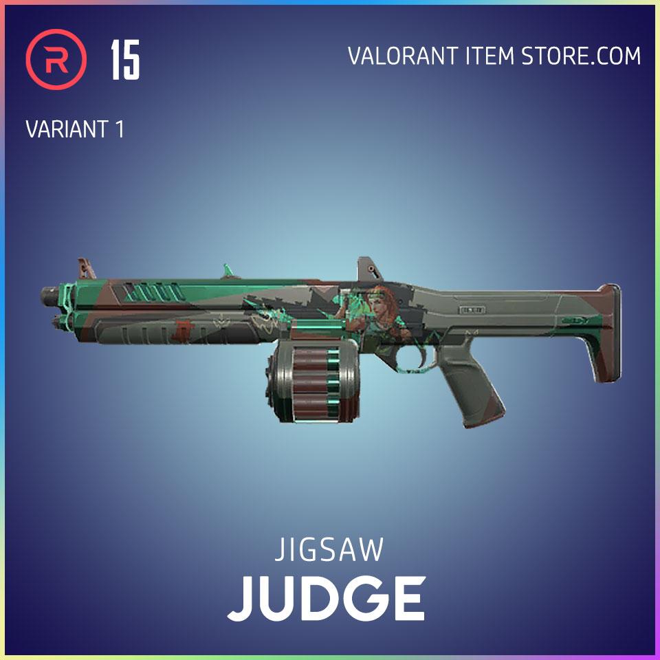 Jigsaw Judge Valorant Battlepass Tier 15 Reflection act 1 variant 1