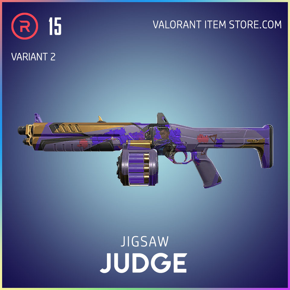 Jigsaw Judge Valorant Battlepass Tier 15 Reflection act 1 variant 2