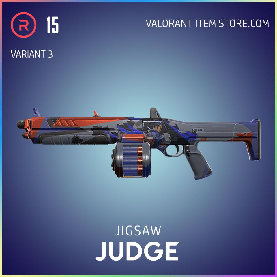 Jigsaw Judge Valorant Battlepass Tier 15 Reflection act 1 variant 3