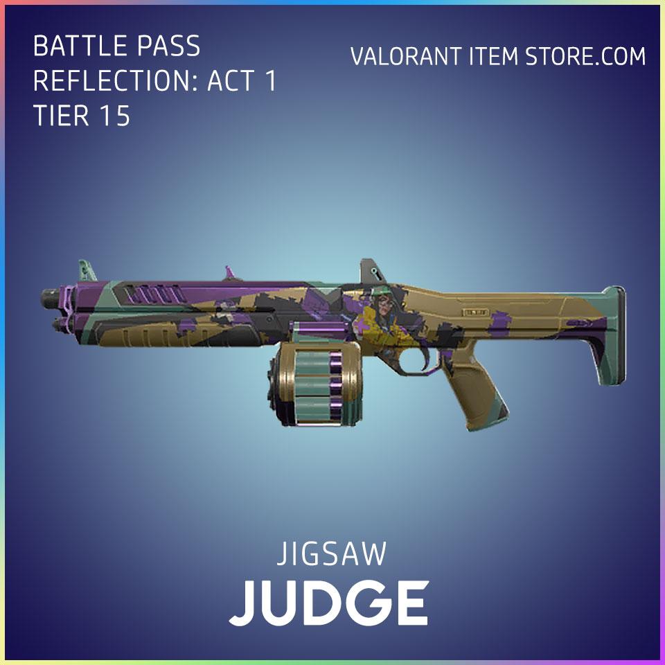Jigsaw Judge Valorant Battlepass Tier 15 Reflection act 1