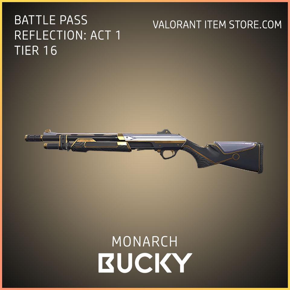 Monarch Bucky valorant battle pass reflection act 1 Tier 16