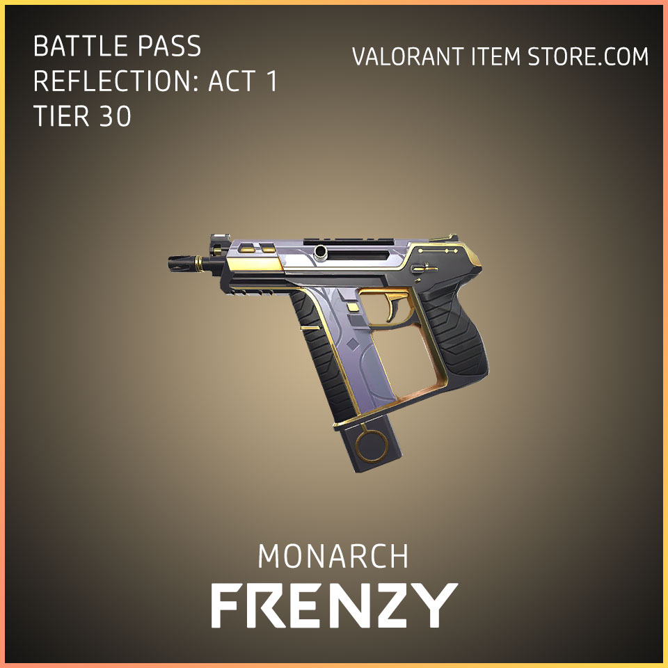 Monarch Frenzy valorant battle pass reflection act 1 Tier 30