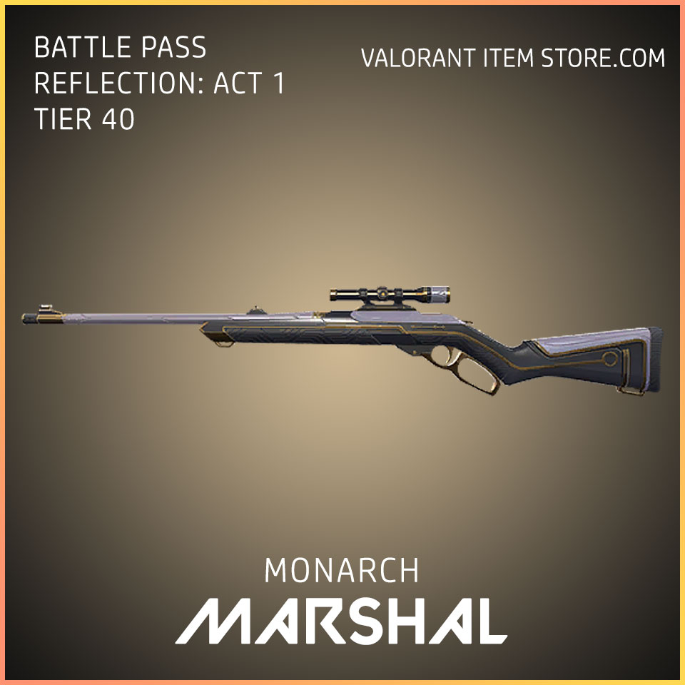 Monarch Marshal valorant battle pass reflection act 1 Tier 40