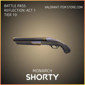 Monarch Shorty valorant battle pass reflection act 1 Tier 10