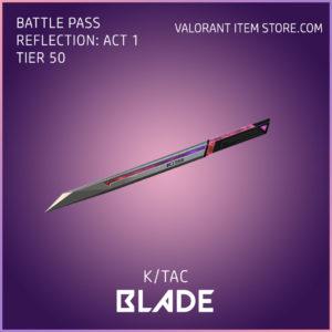 k/tac blade valorant battle pass reflection act 1 tier 50