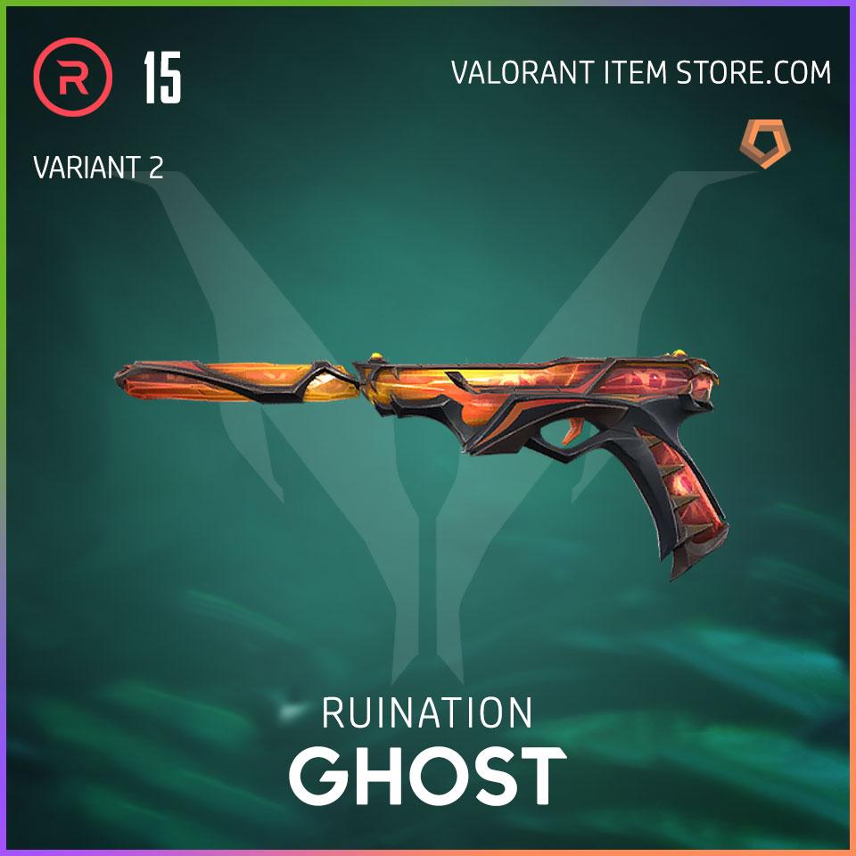 Ruination Ghost Valorant Skin variant 2