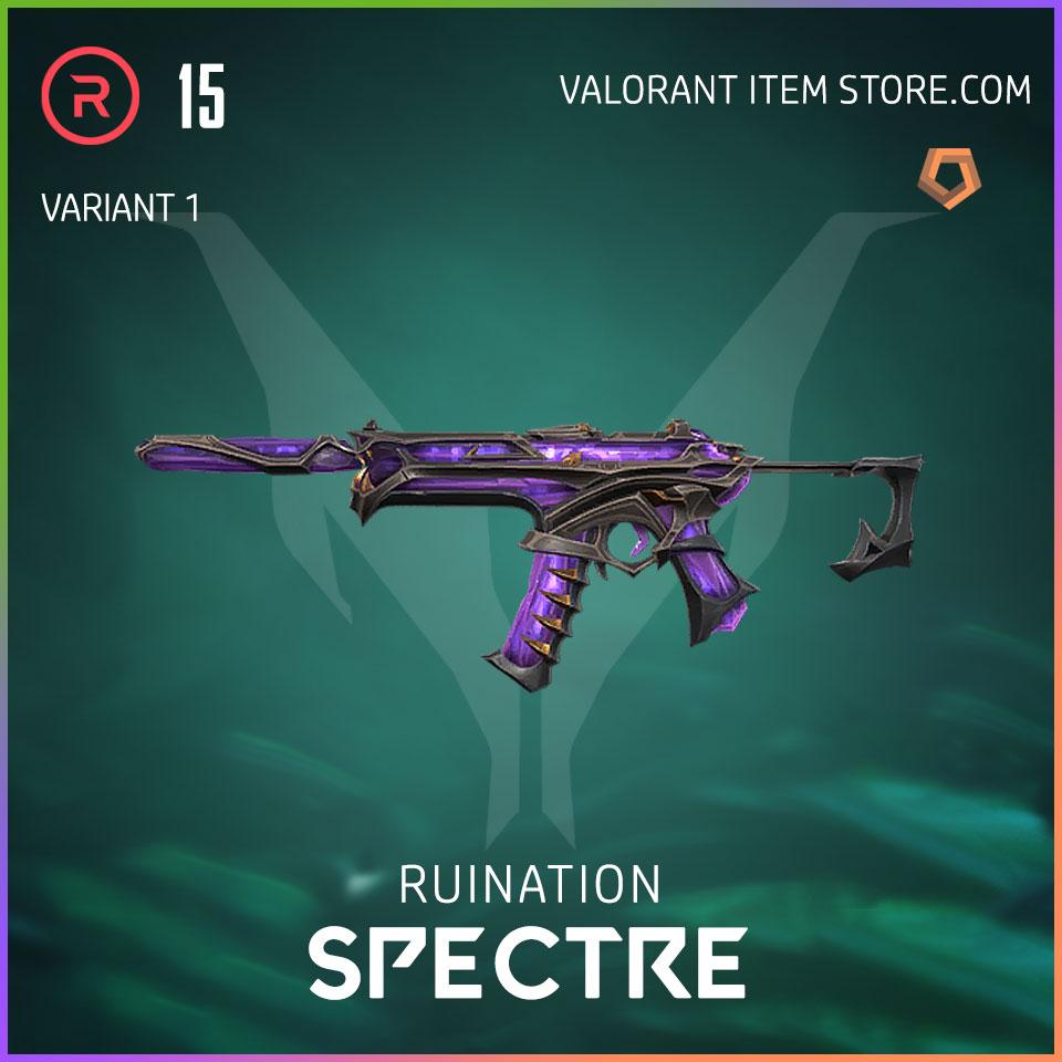 Ruination Spectre Valorant Skin variant 1