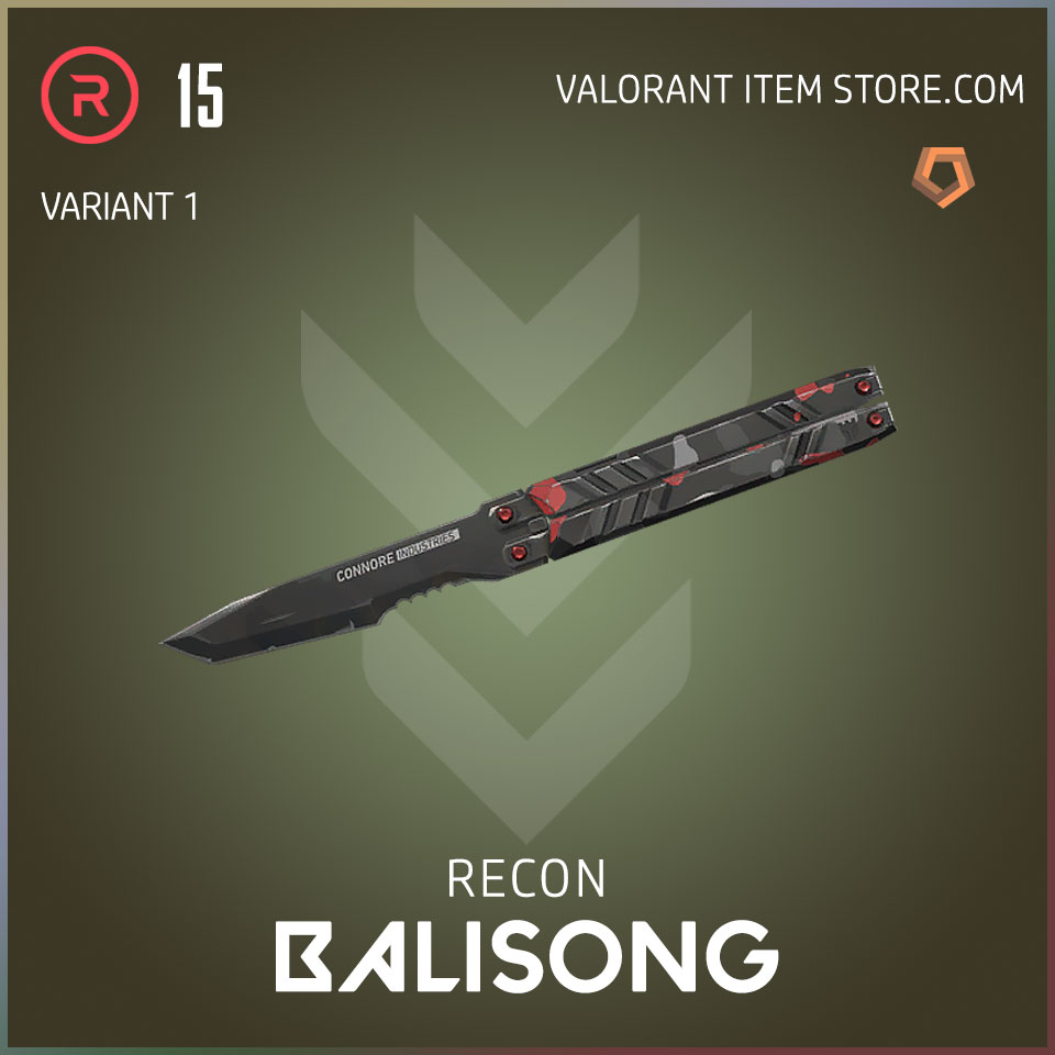 recon balisong melee butterfly knife valorant variant 1