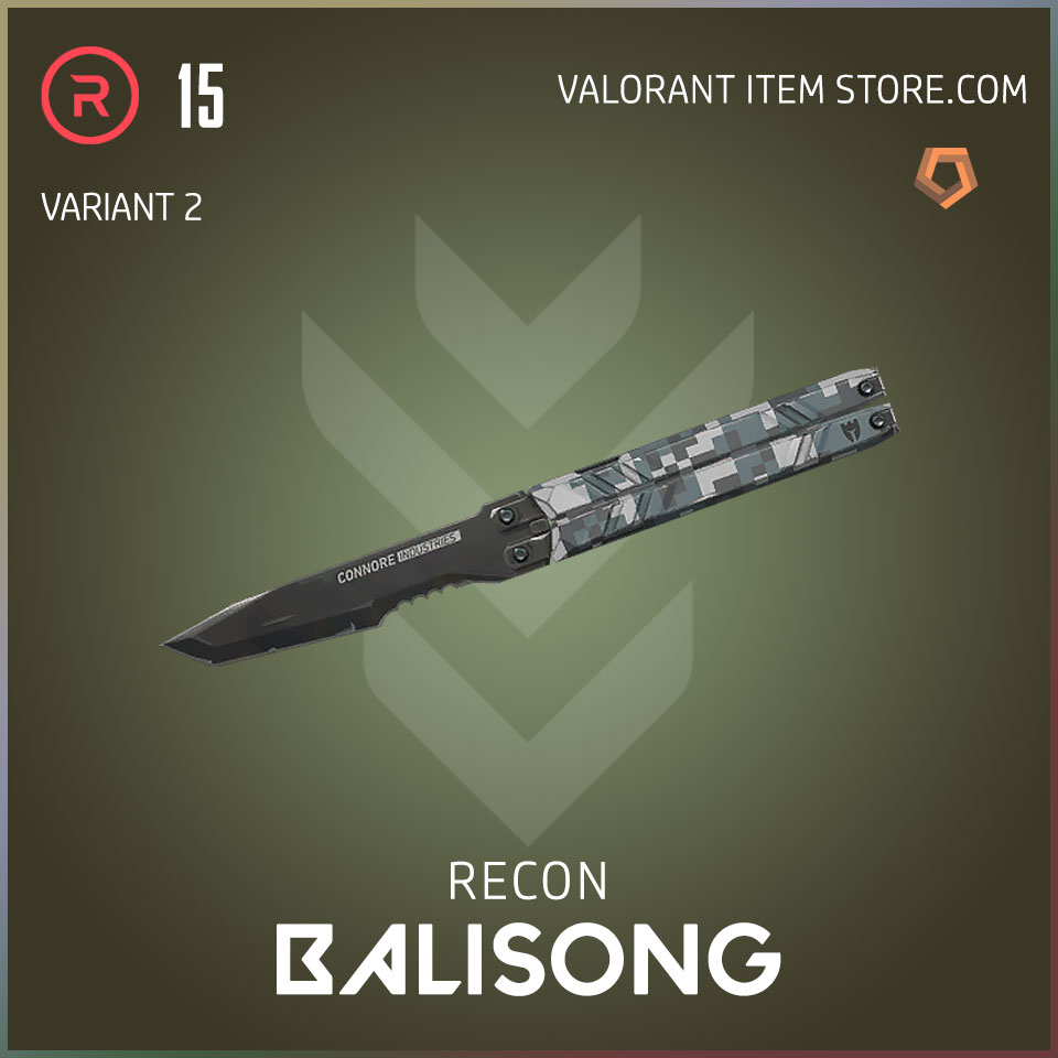 recon balisong melee butterfly knife valorant variant 2