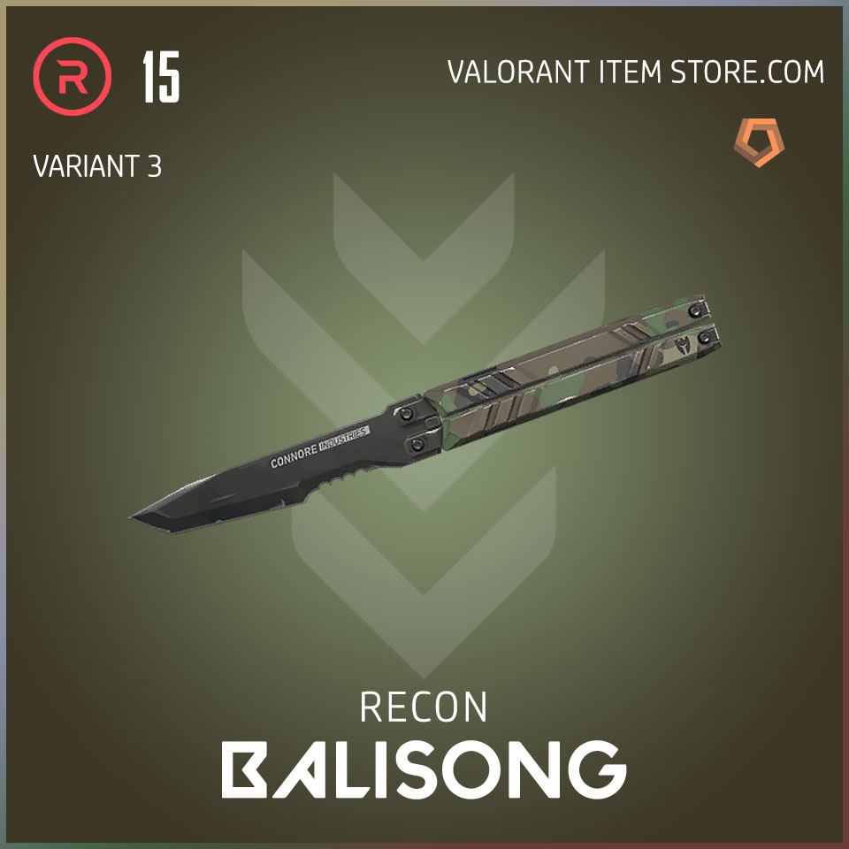 recon balisong melee butterfly knife valorant variant 3